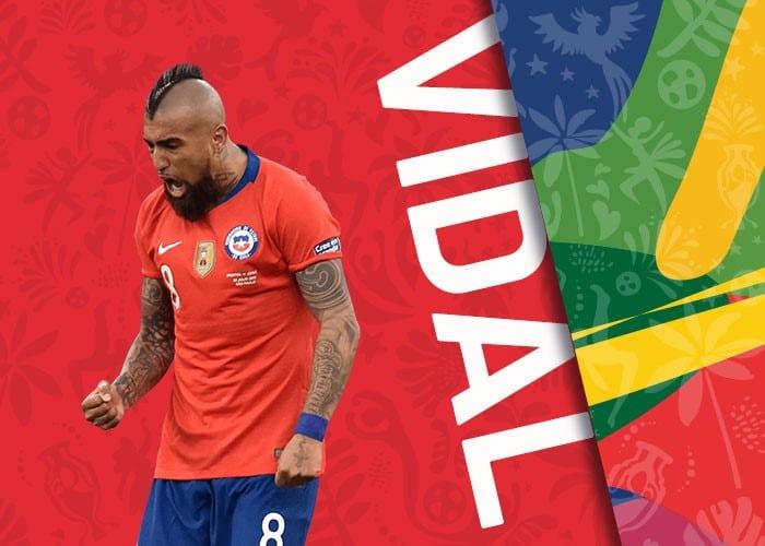Vidal chile copa america 2021